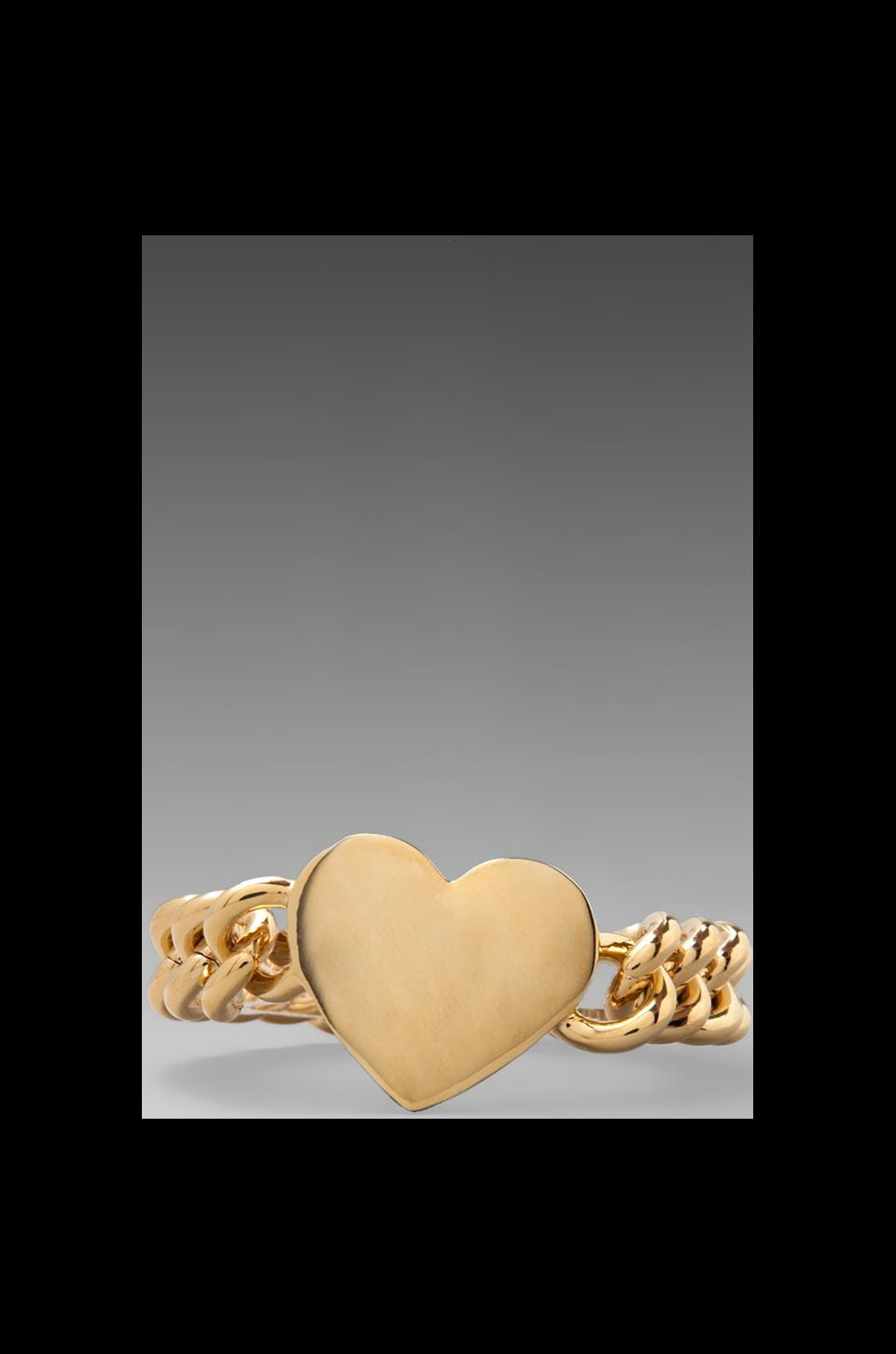 Juicy Couture Metal Heart ID Bracelet in Gold