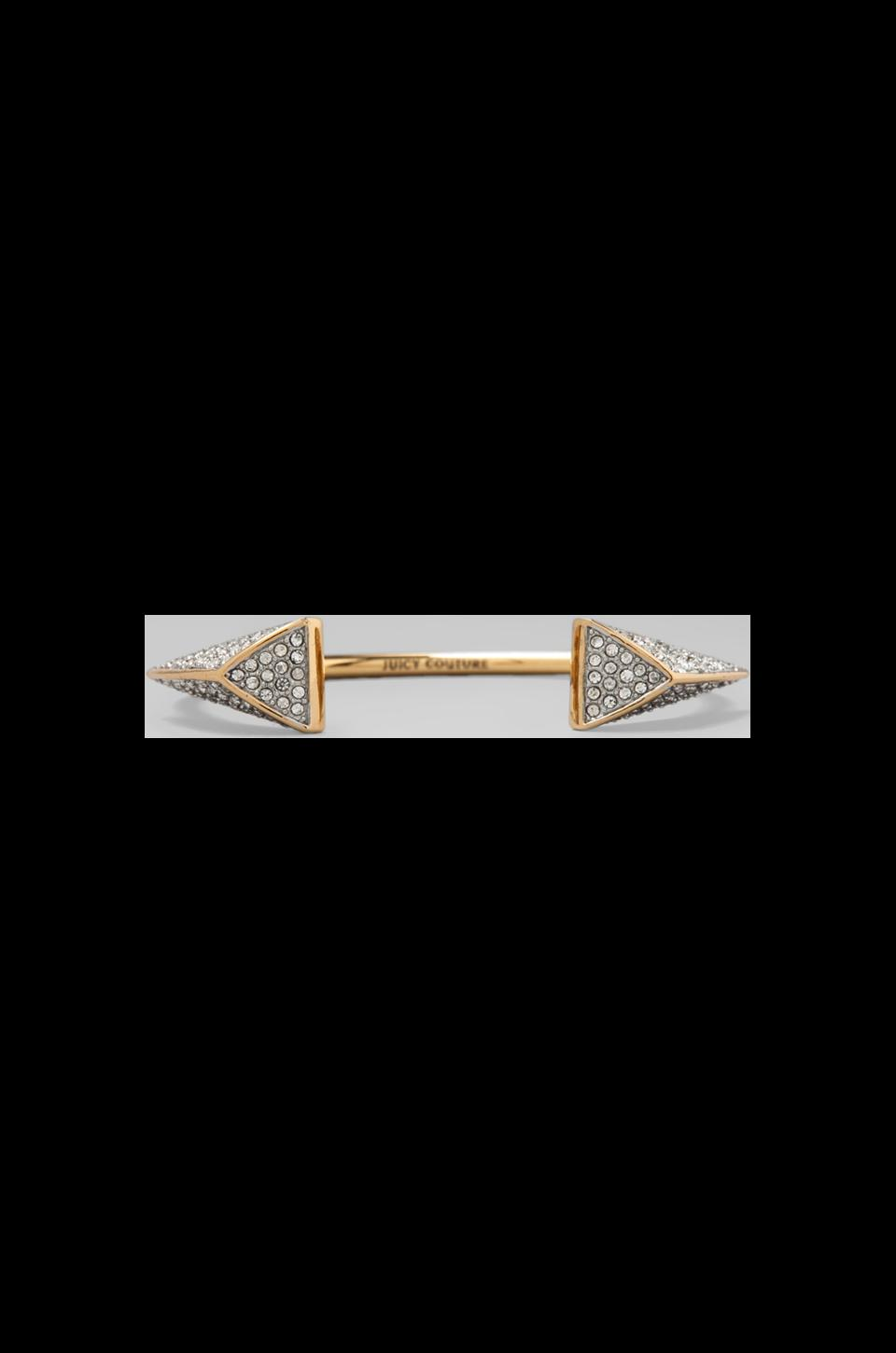 Juicy Couture Pave Triangle Skinny Bangle in Gold