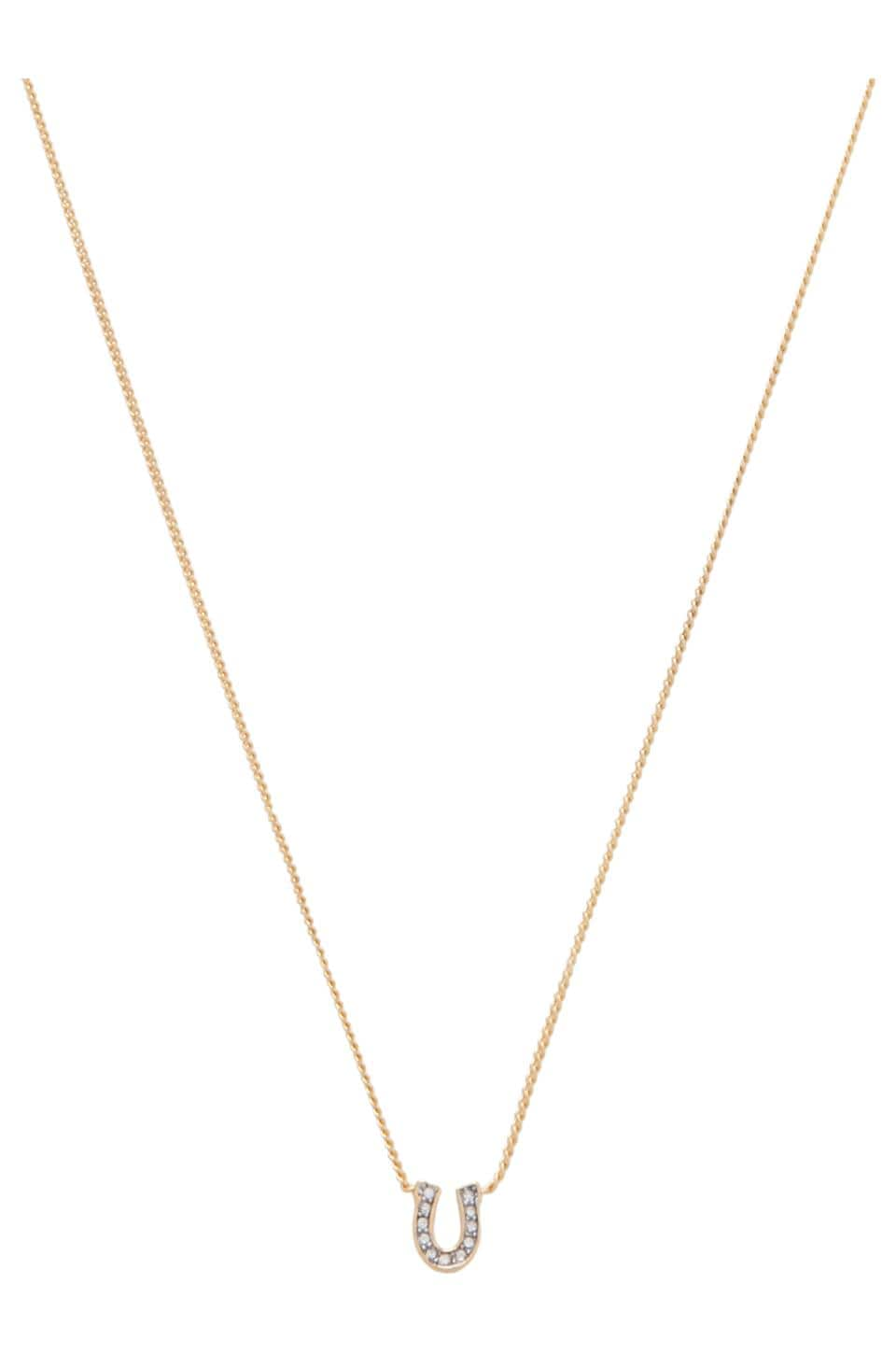 Juicy Couture Charm Minis Pave Horseshoe Necklace in Gold