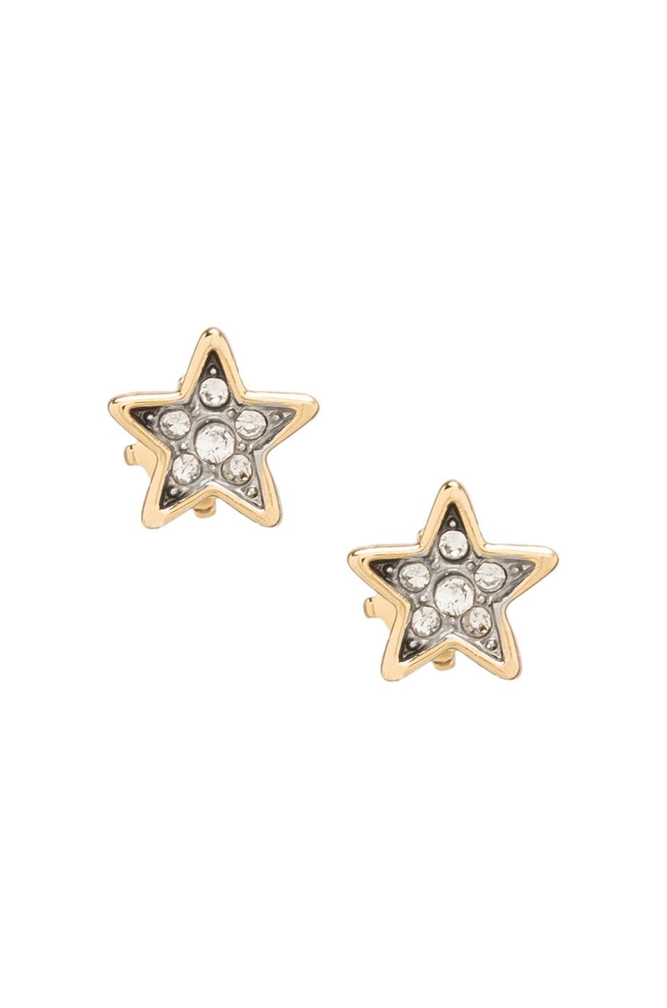 Juicy Couture Pave Star Studs in Gold