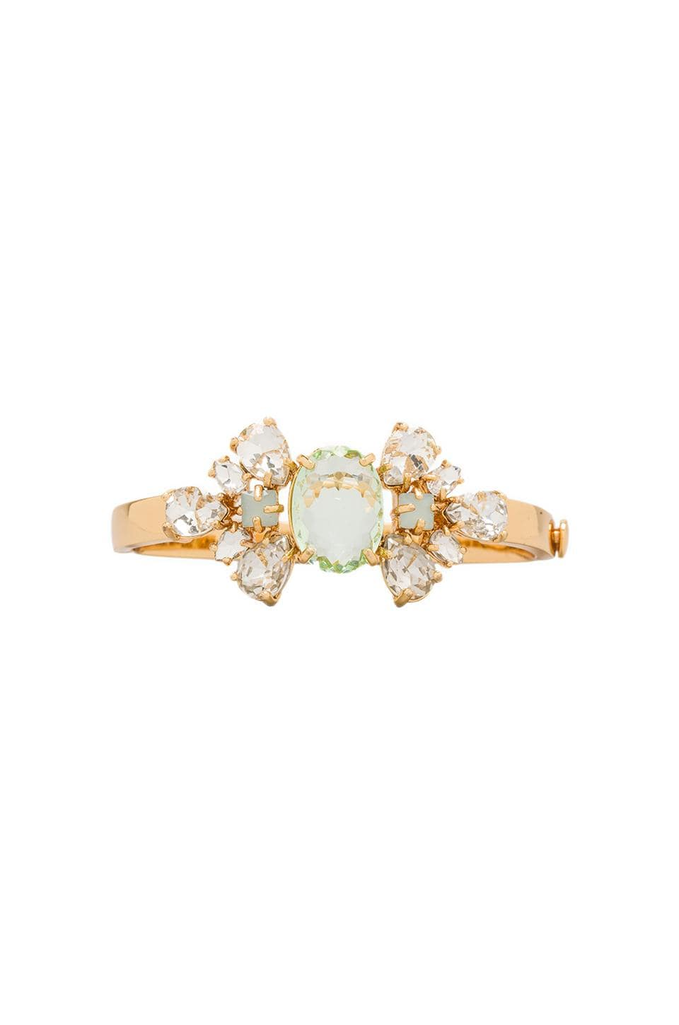 Juicy Couture Pear Cut Cluster Hinged Bangle in Gold