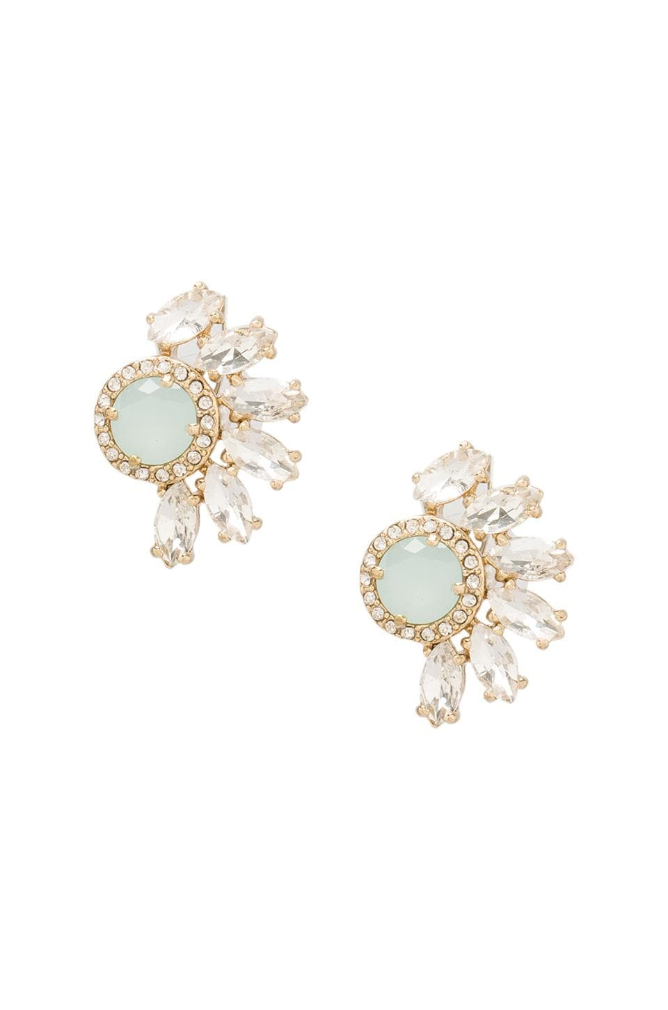 Juicy Couture Marquise Cluster Rhinestone Studs in Green