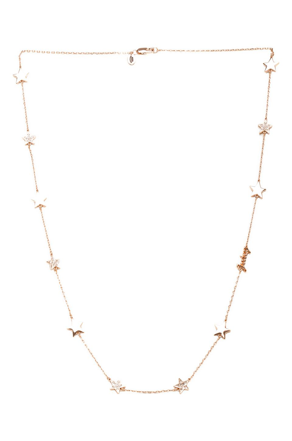 Juicy Couture Pave Star Strand Necklace in Rose Gold