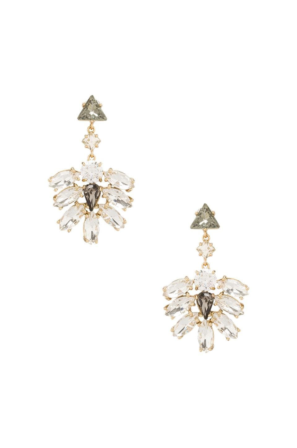 Juicy Couture Rhinestone Cluster Drop Earrings in Gold