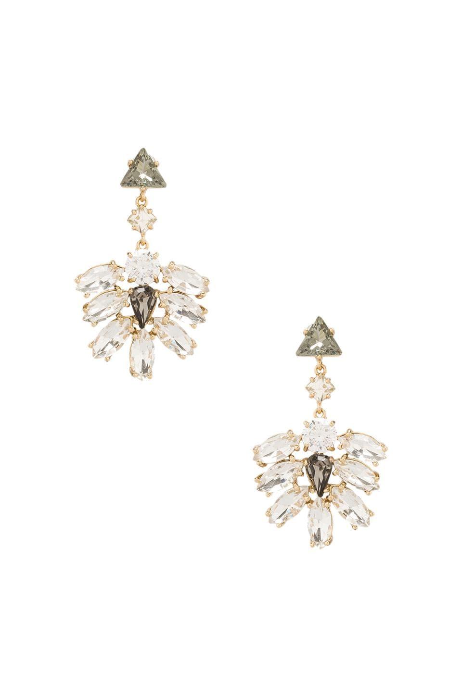 Juicy Couture Rhinestone Cluster Drop Earrings in Gold