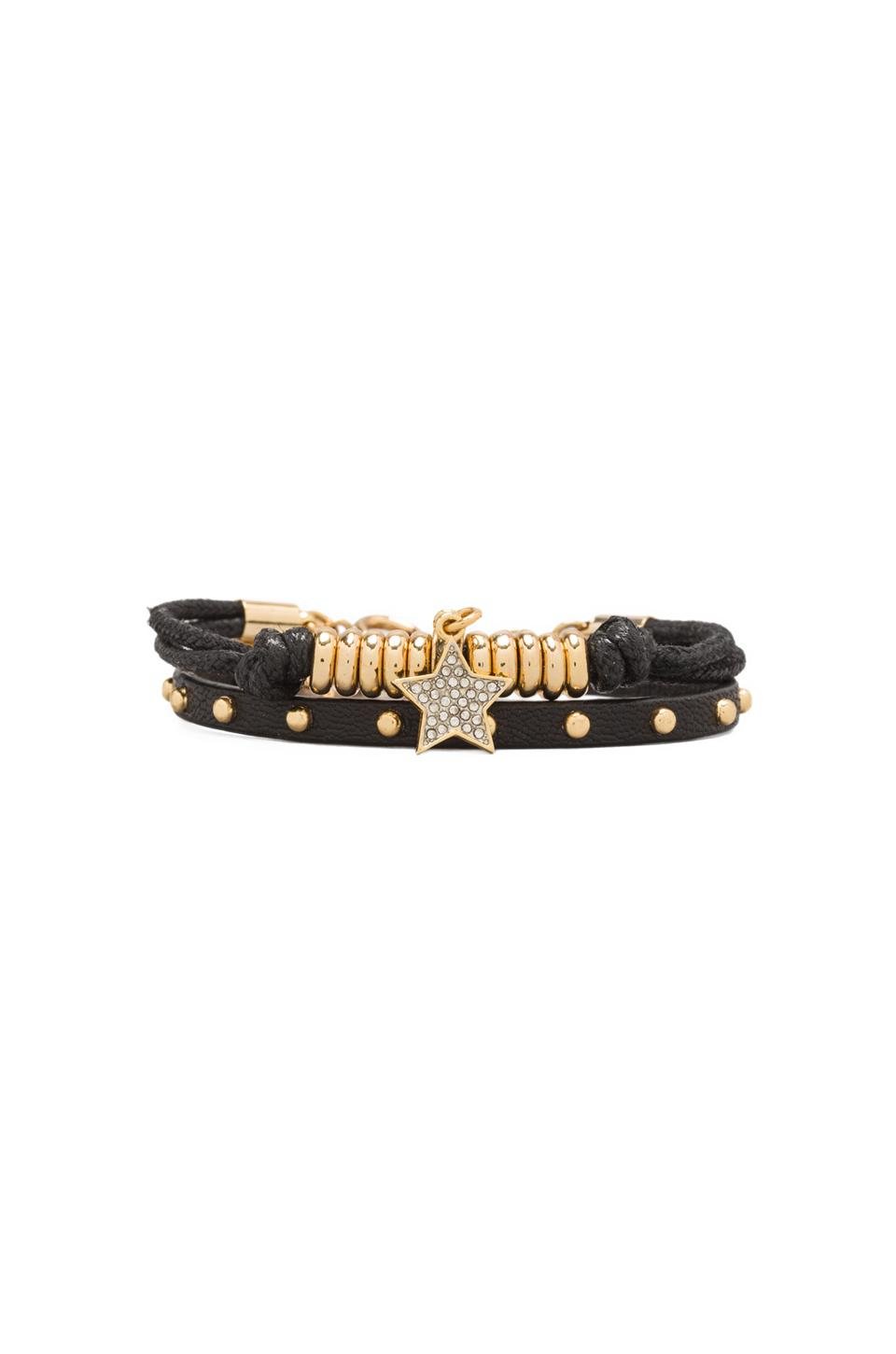 Juicy Couture Friendship Bracelet Duo in Black