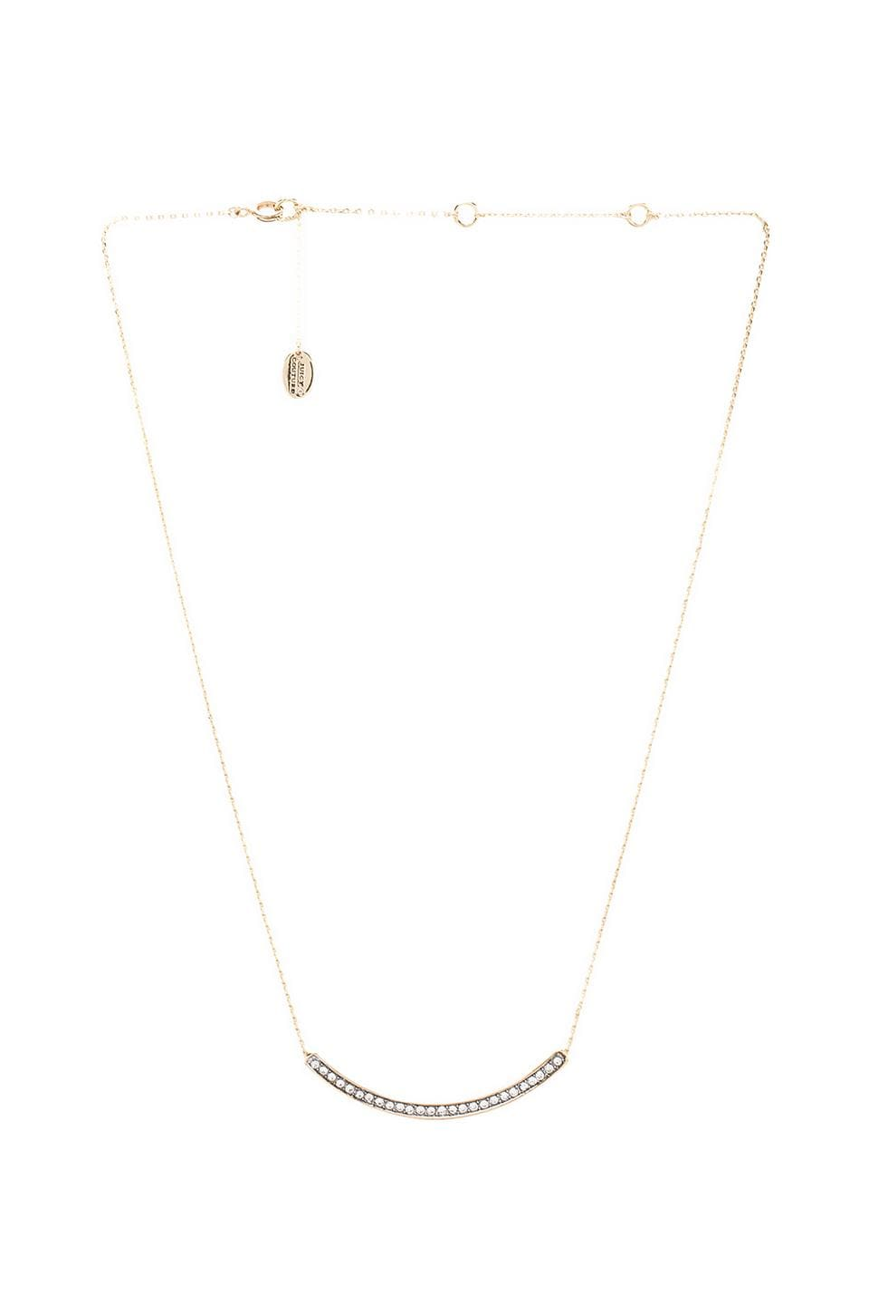 Juicy Couture Pave Bar Necklace in Gold