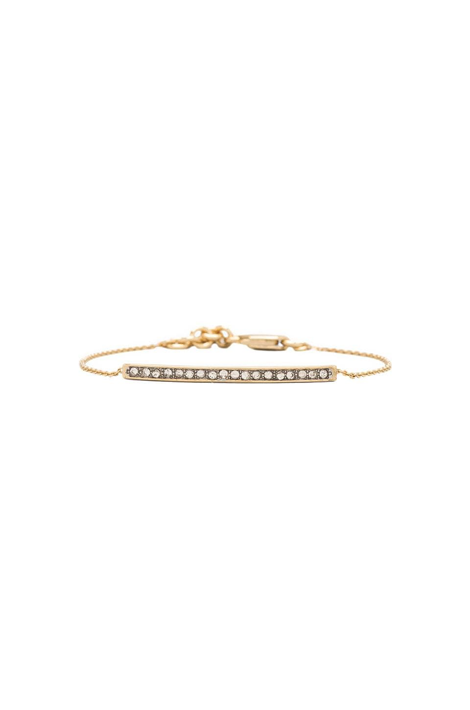 Juicy Couture Pave Bar Bracelet in Gold