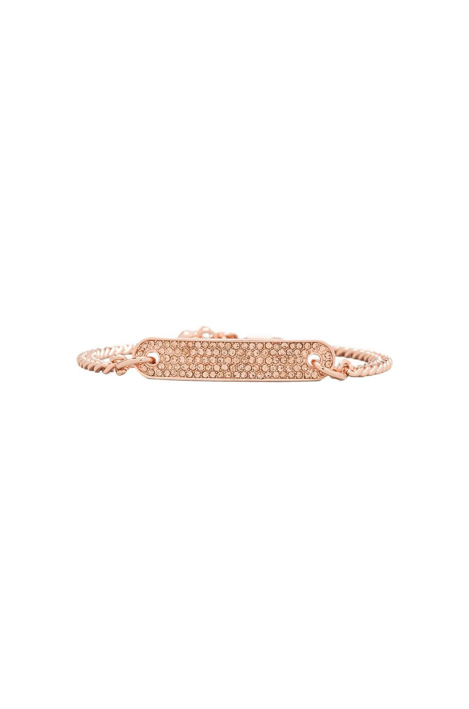 Juicy Couture ID Bracelet in Rose Gold