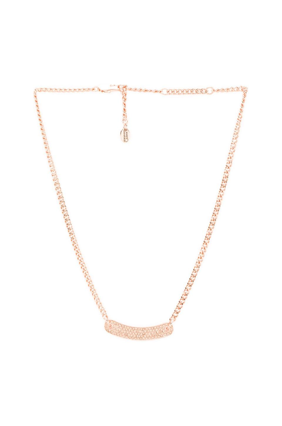 Juicy Couture Pave ID Necklace in Rose Gold