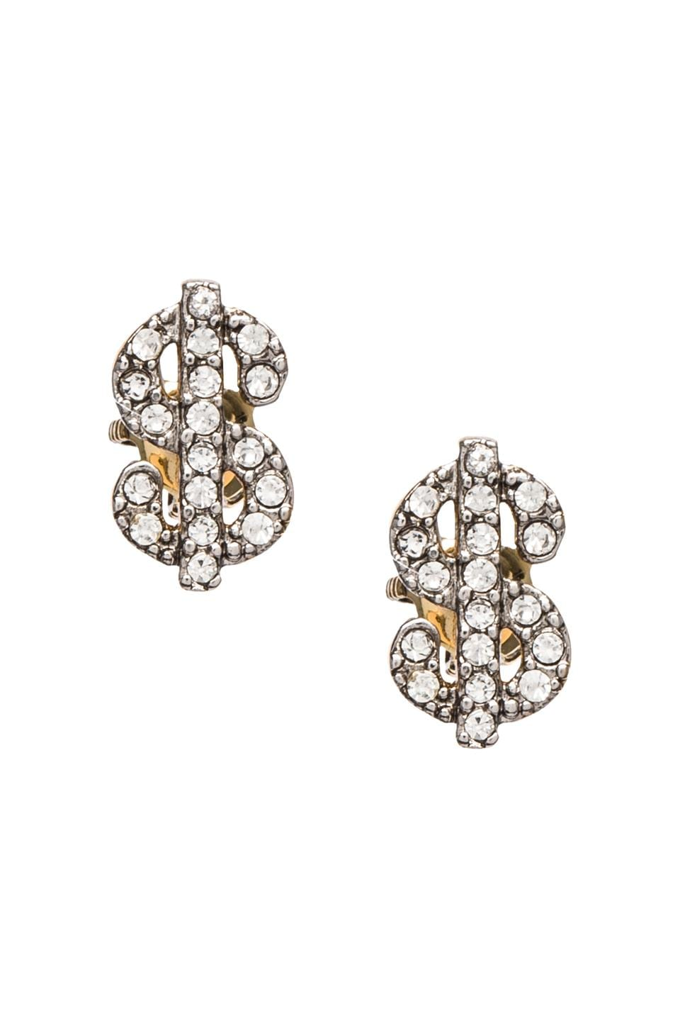 Juicy Couture Money Studs in Gold