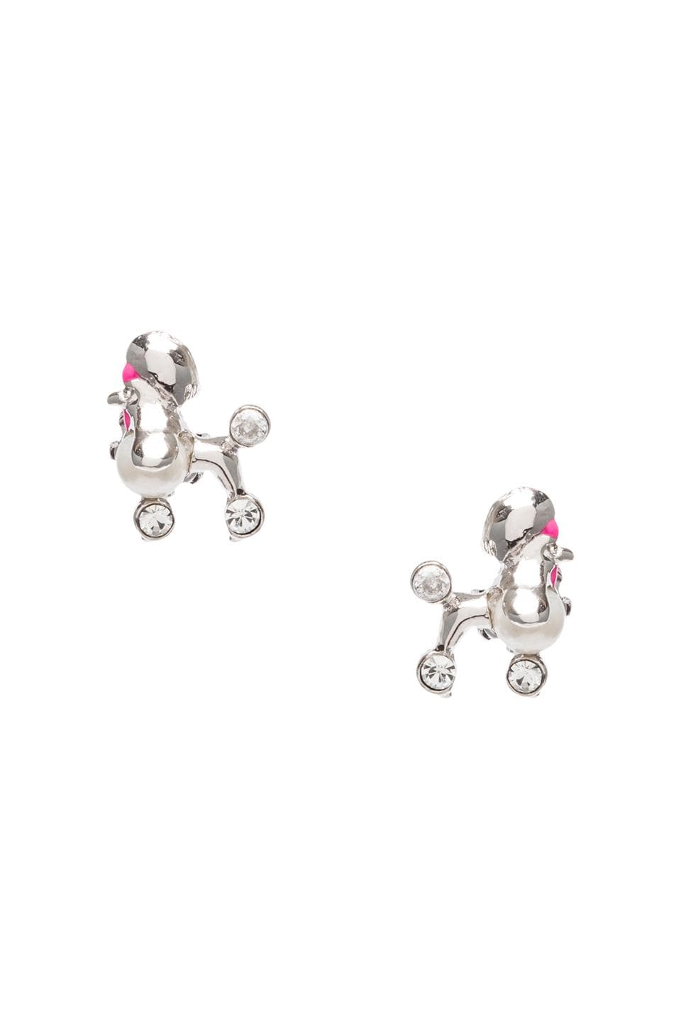 Juicy Couture Poodle Studs in Silver