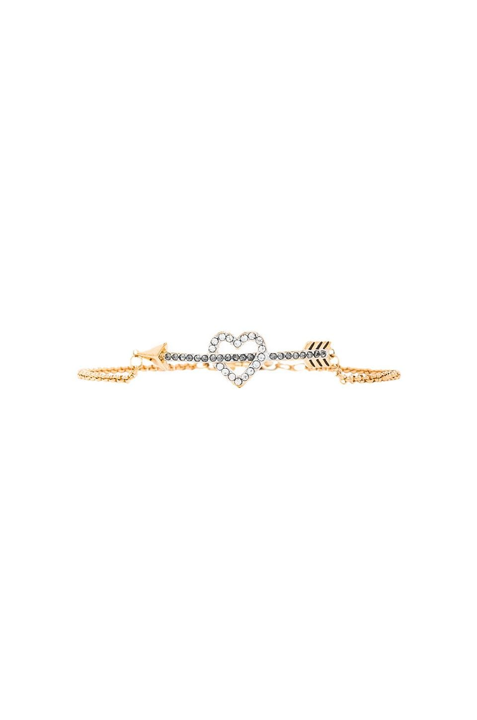 Juicy Couture Heart & Arrow Wish Bracelet in Gold