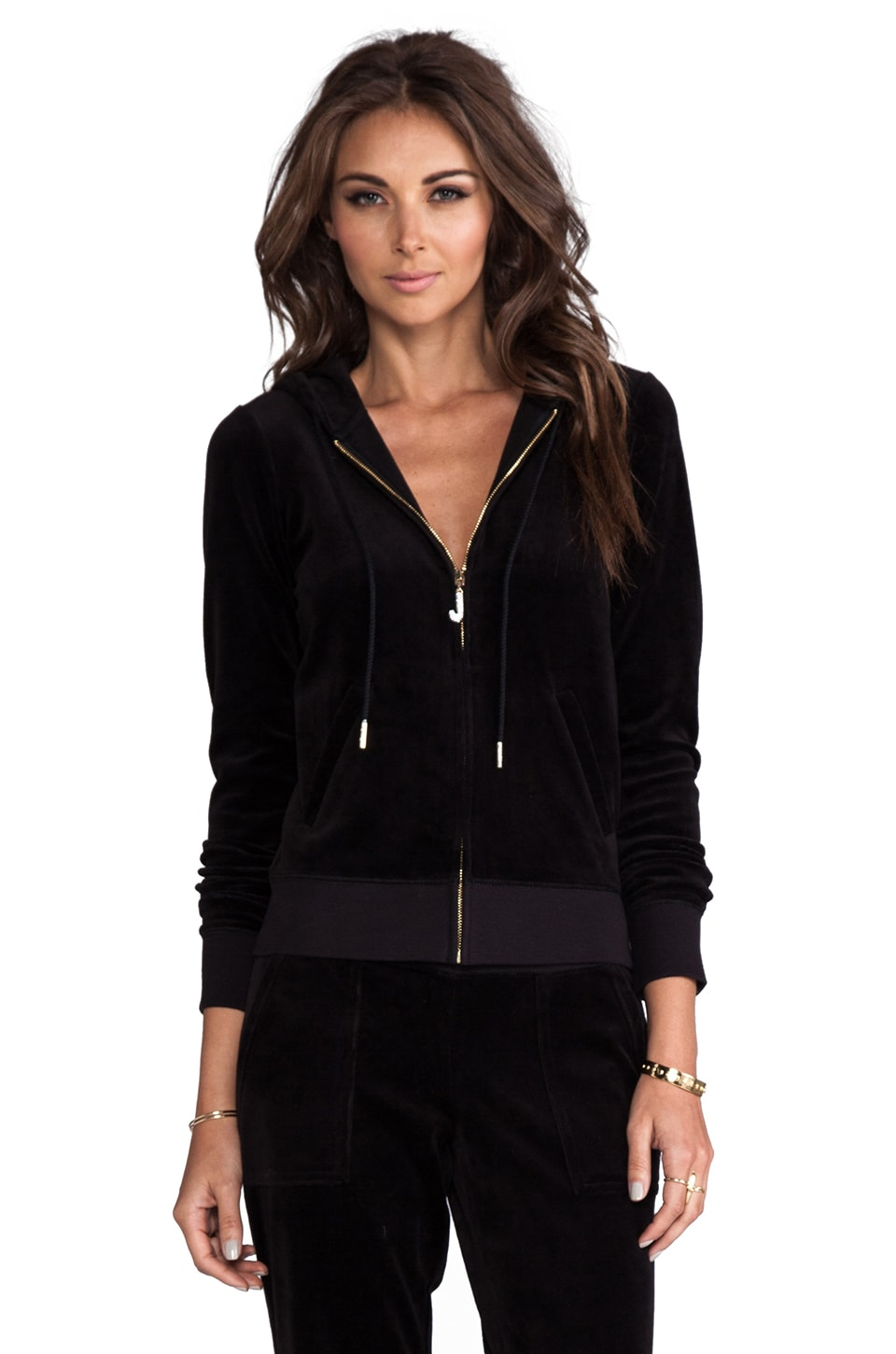 Juicy Couture J Bling Hoodie in Black