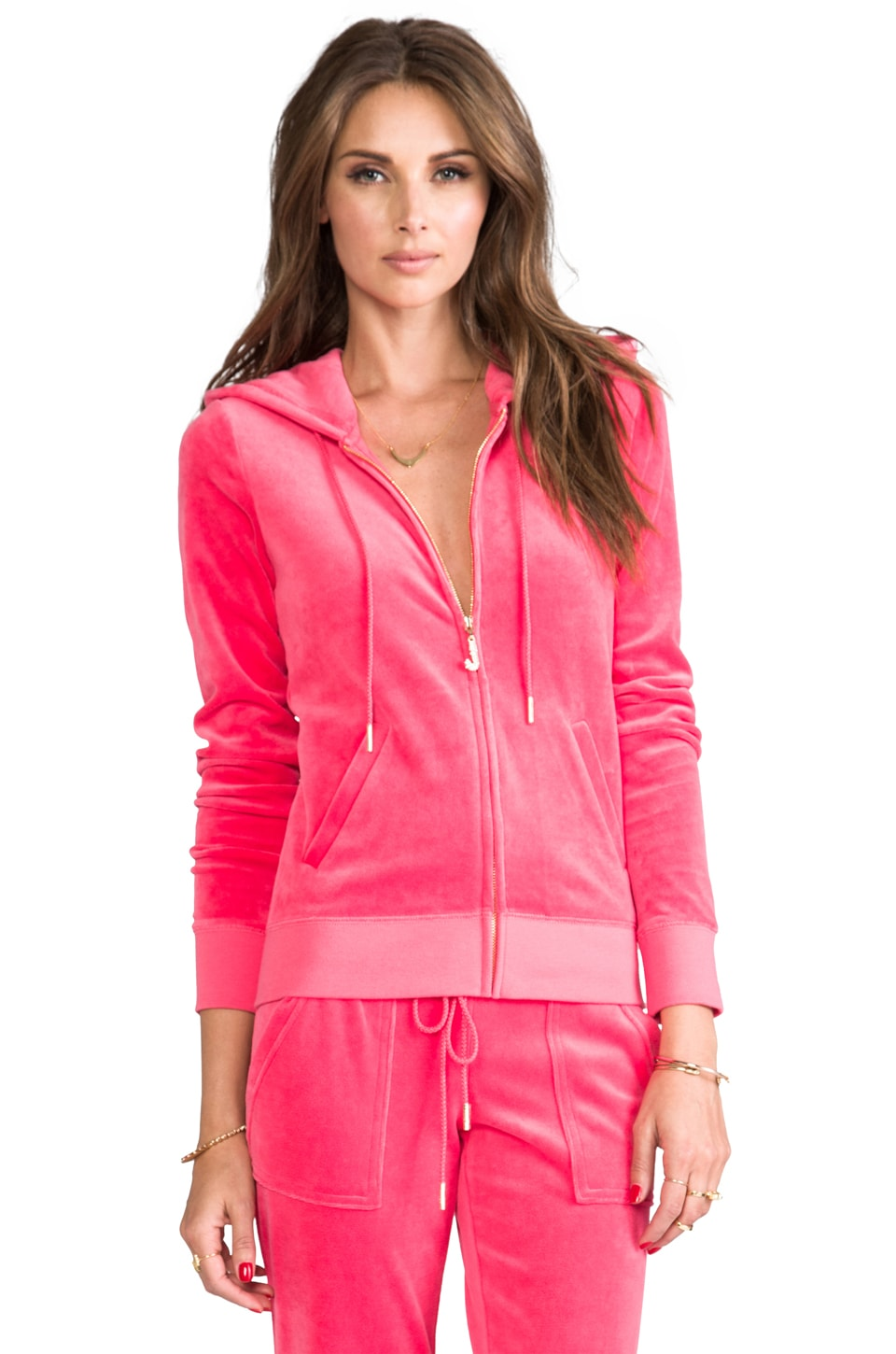 Juicy Couture J Bling Hoodie in Geranium