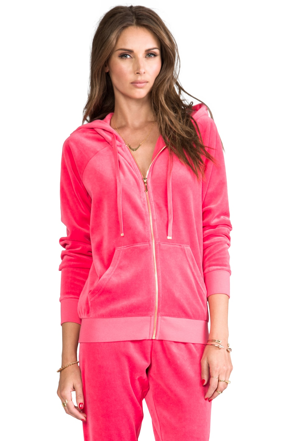 Juicy Couture J Bling Relaxed Hoodie in Top Hat
