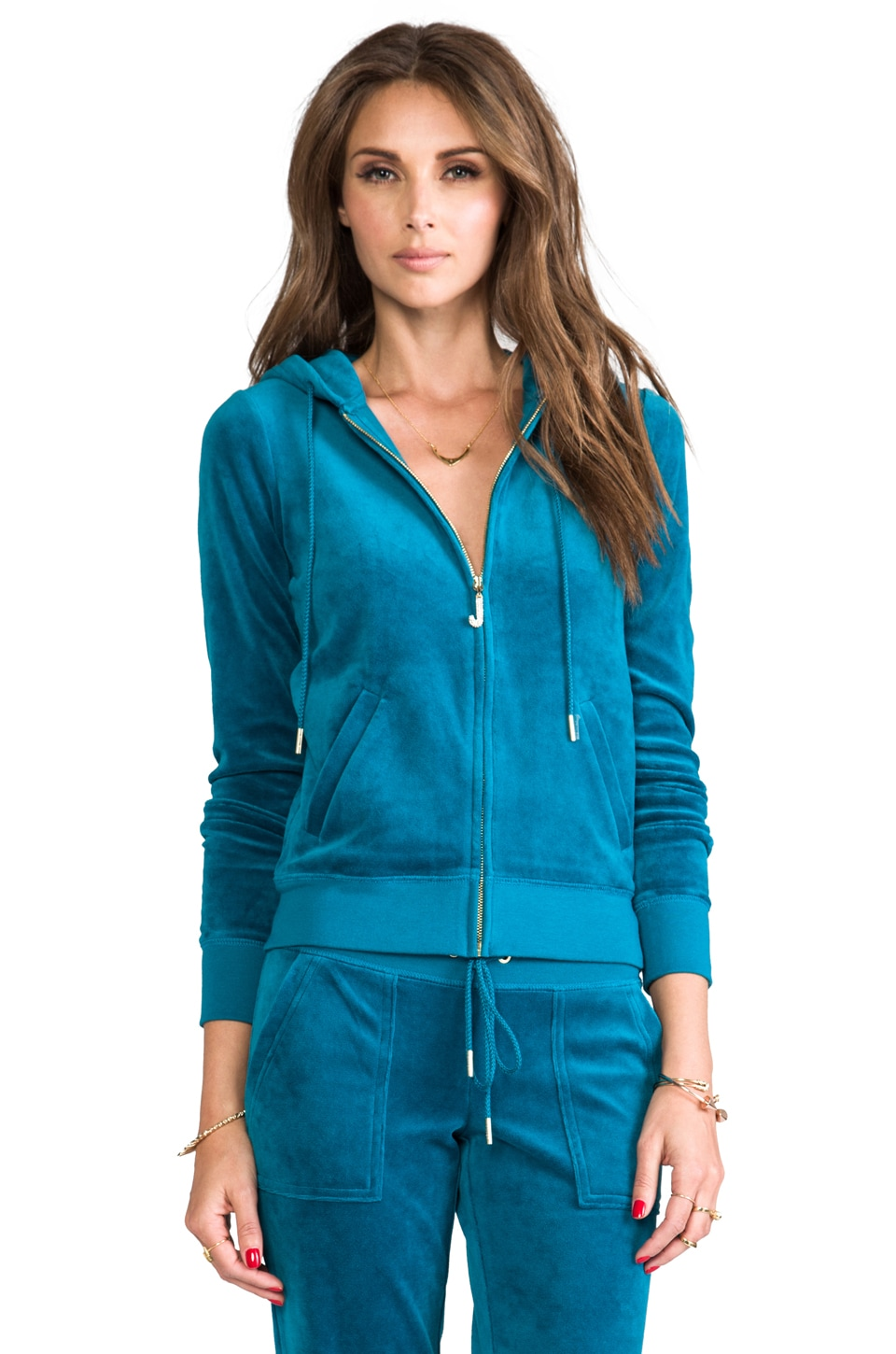 Juicy Couture J Bling Hoodie in Jade