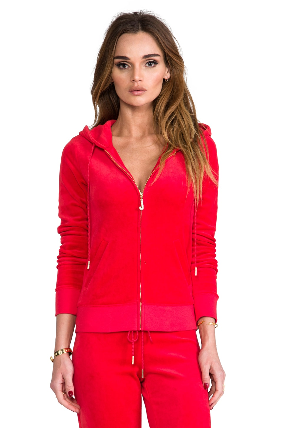 Juicy Couture J Bling Hoodie in Lipstick Red