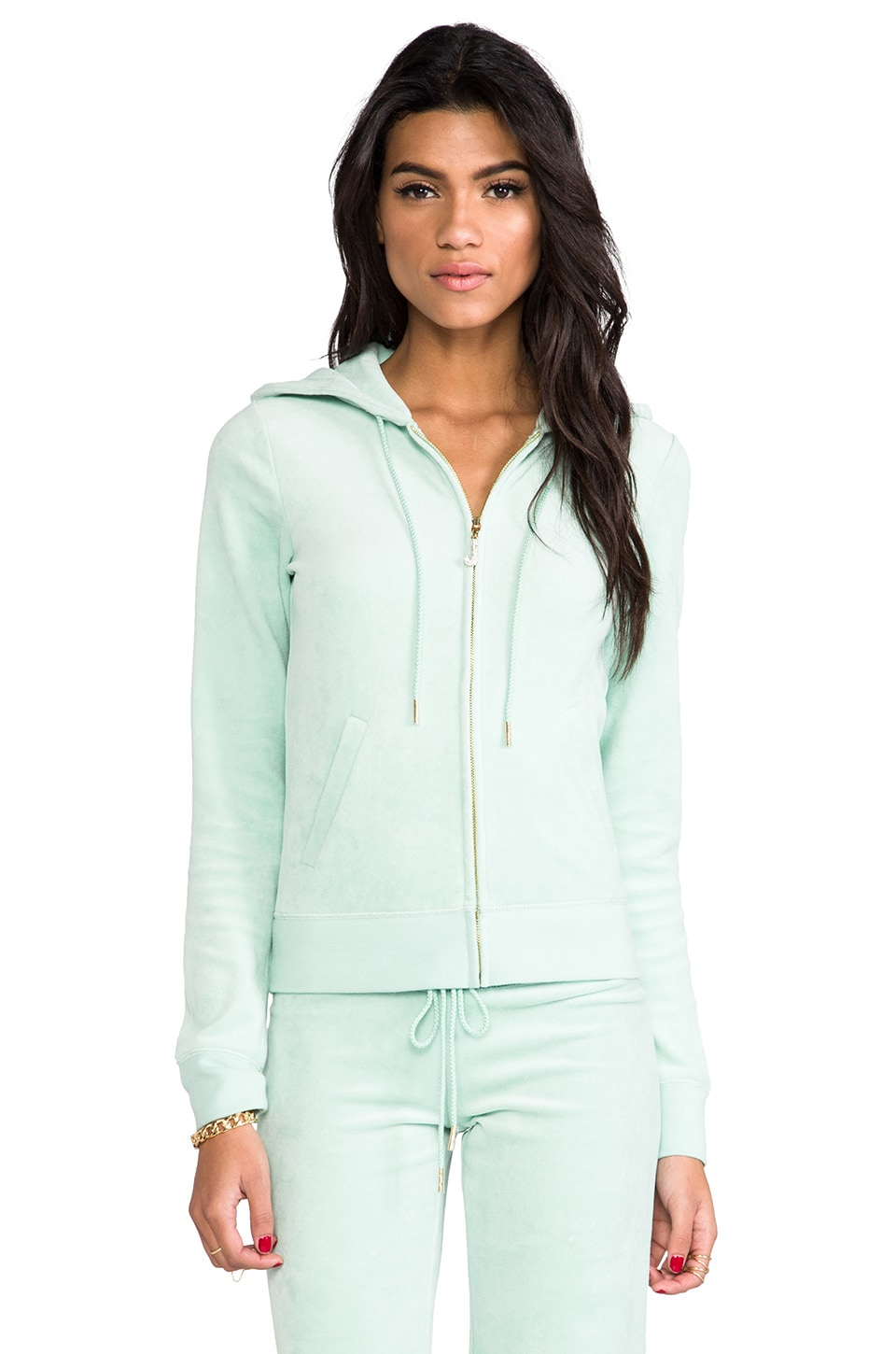 Juicy Couture J Bling Hoodie in Aqua Glass