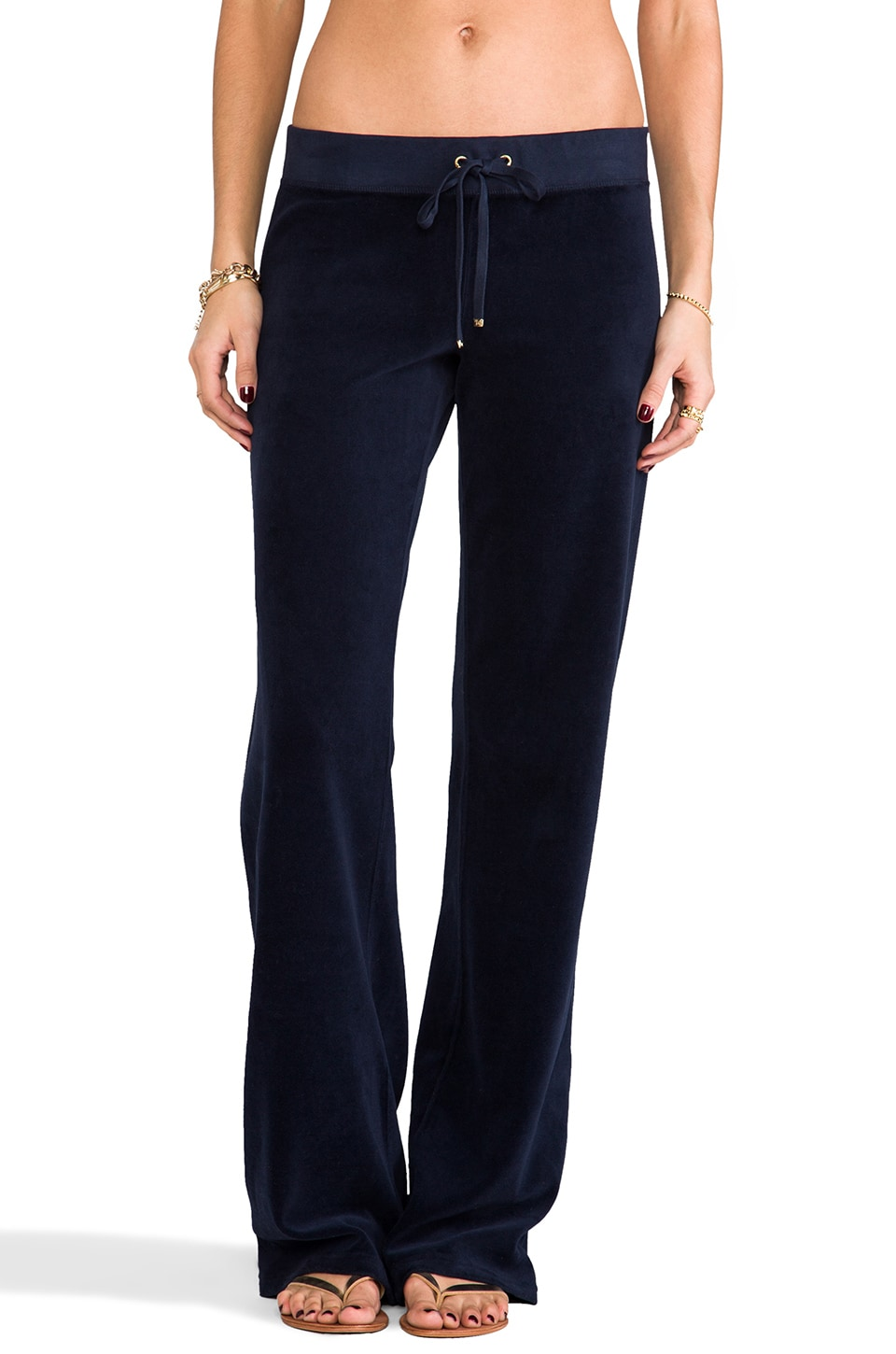 Juicy Couture Classic Velour Original Leg Pant in Regal