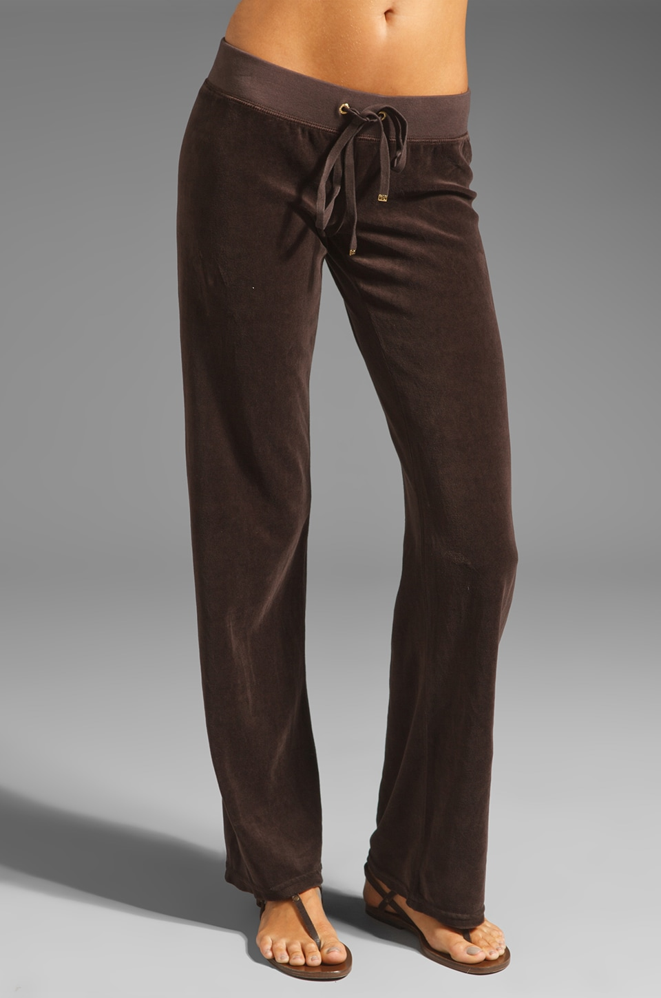 Juicy Couture Original Leg Pant in Chestnut