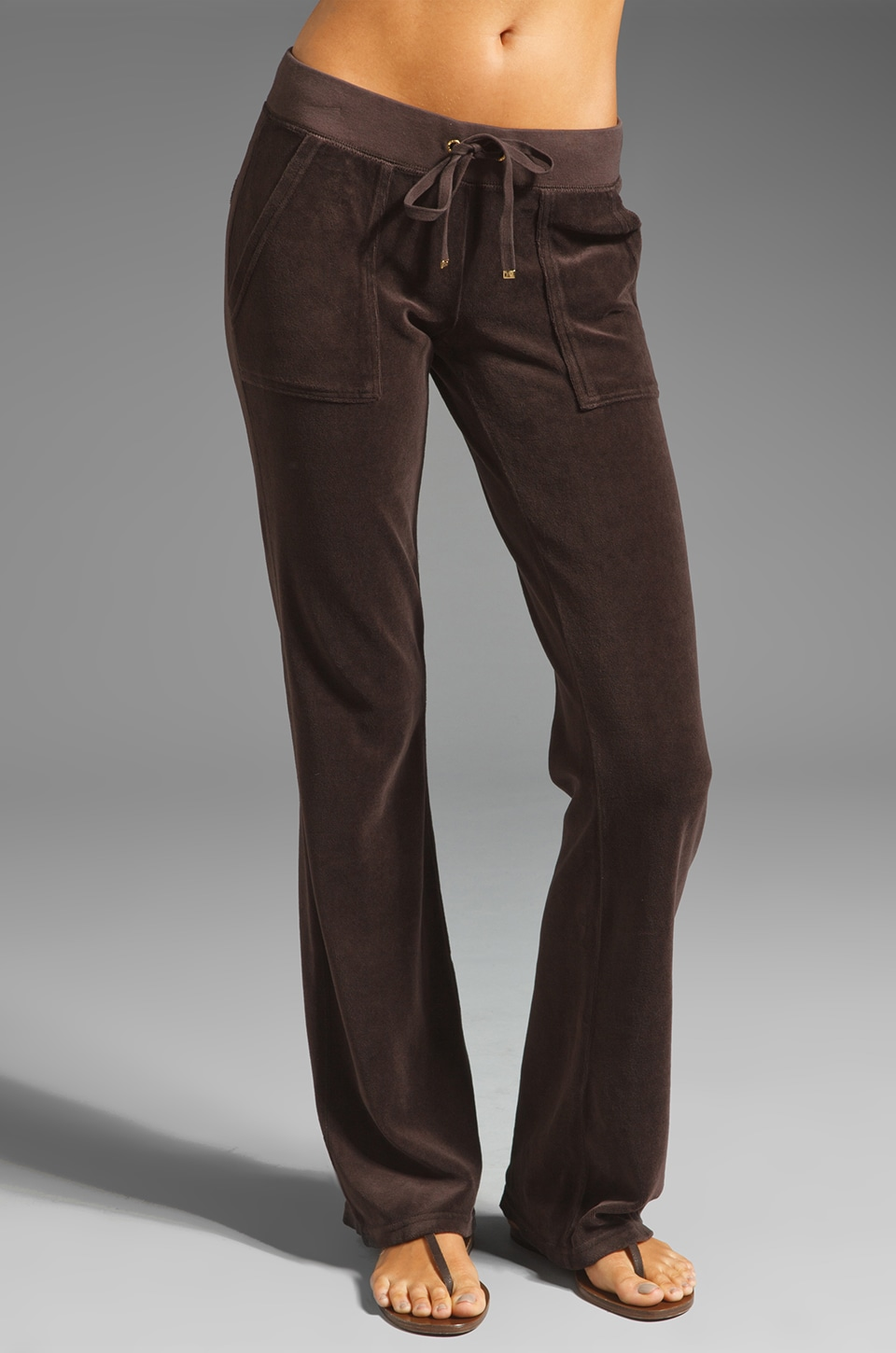 Juicy Couture Bootcut Pant in Chestnut