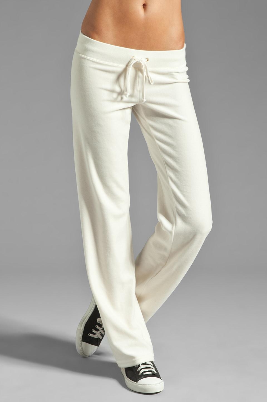 Juicy Couture Velour Collegiate Crest Pant in Angel
