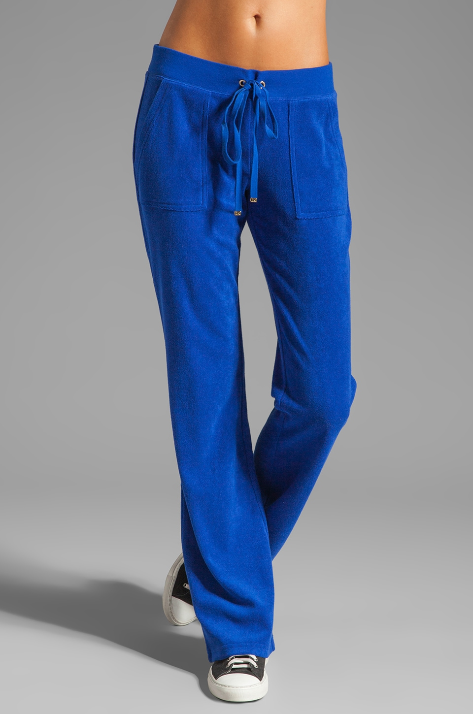 Juicy Couture Terry Snap Pocket Pant in Seaside