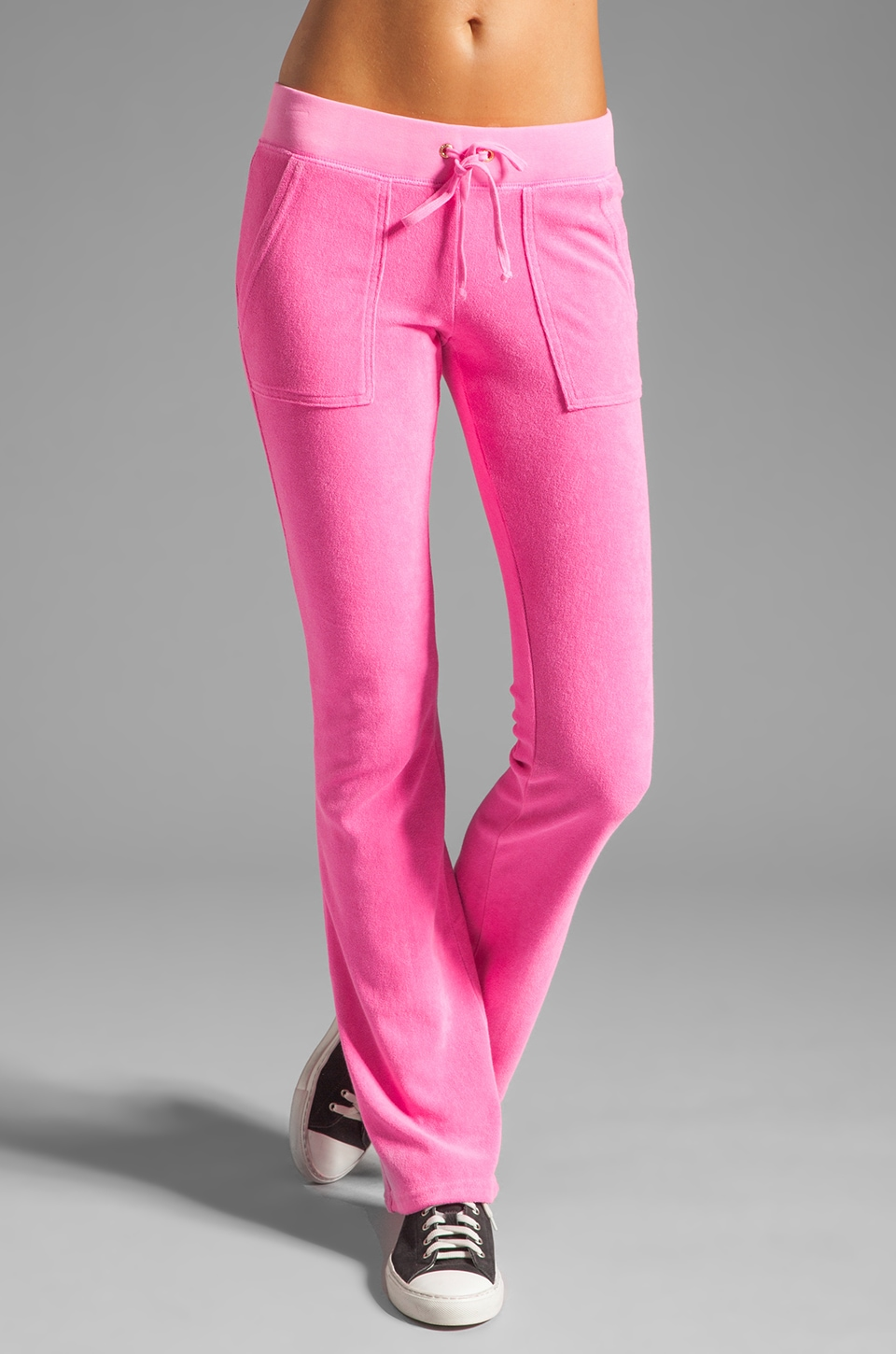Juicy Couture Terry Snap Pocket Pant in Mademoiselle