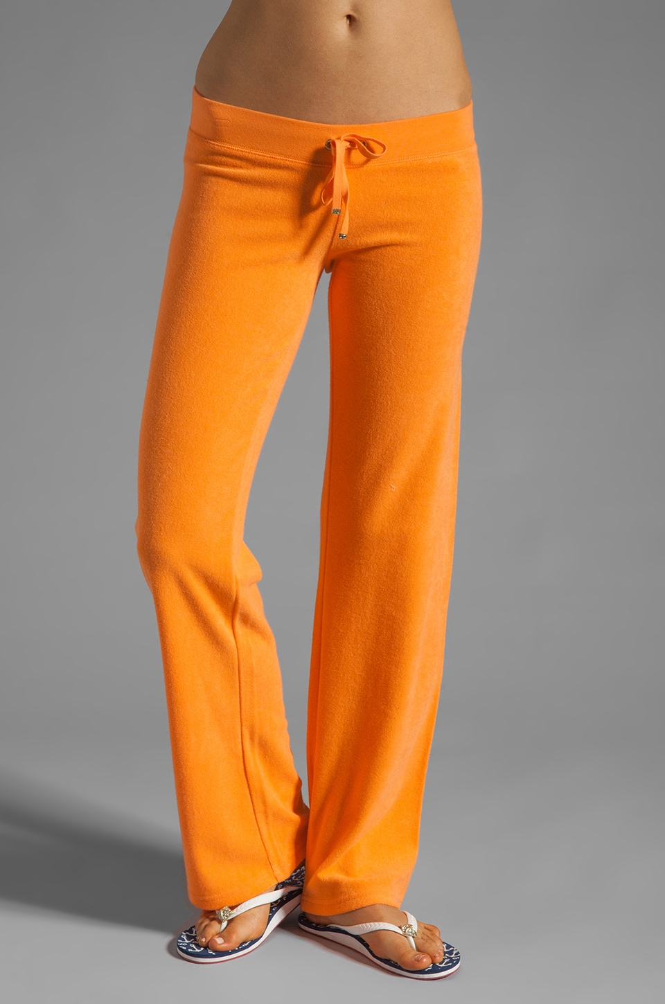 Juicy Couture Terry Original Leg Pant in Tangerine