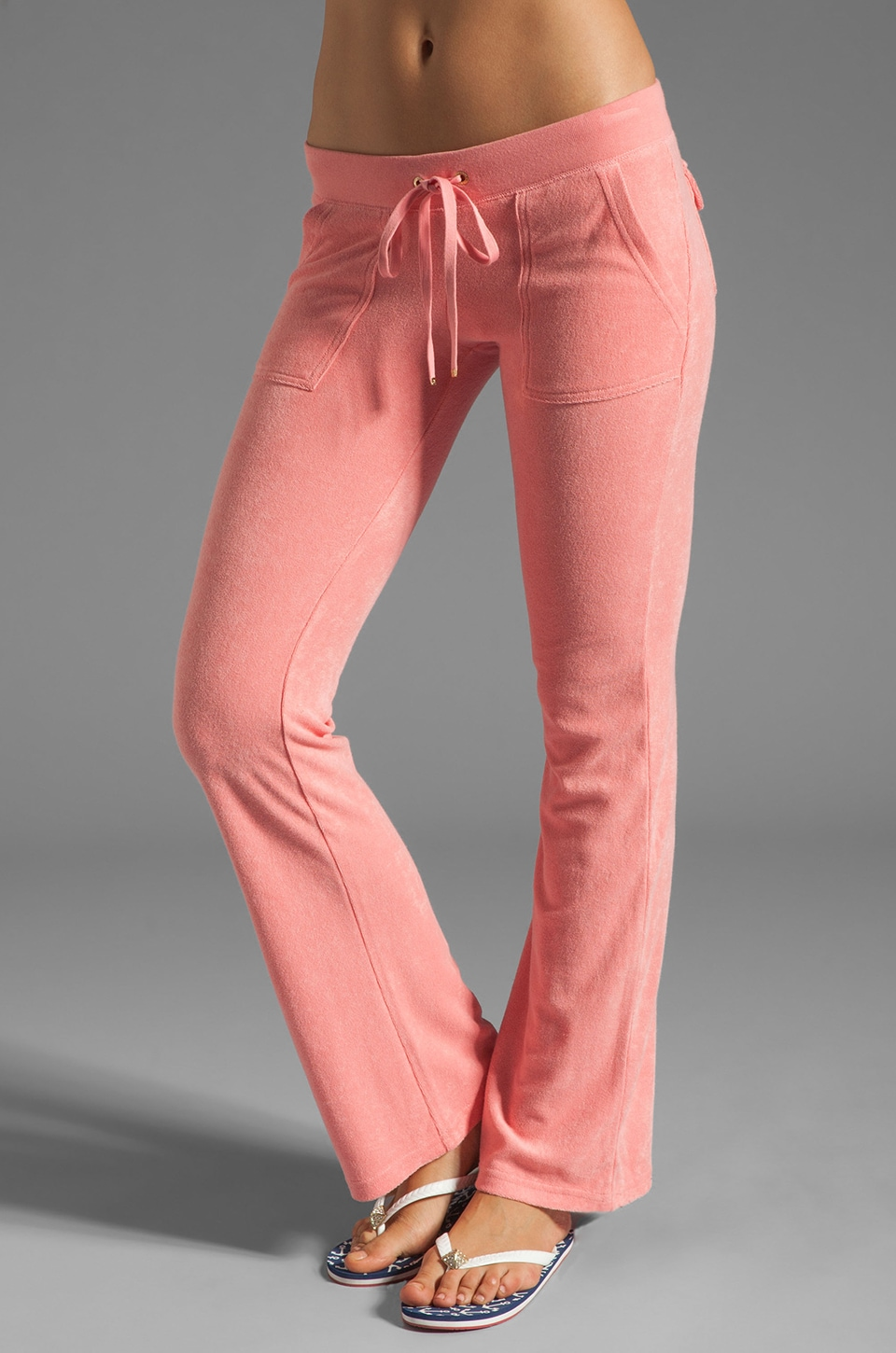 Juicy Couture Terry Snap Pocket Pant in Bubblegum