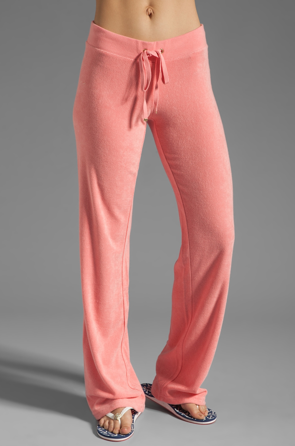Juicy Couture Terry Original Leg Pant in Bubblegum