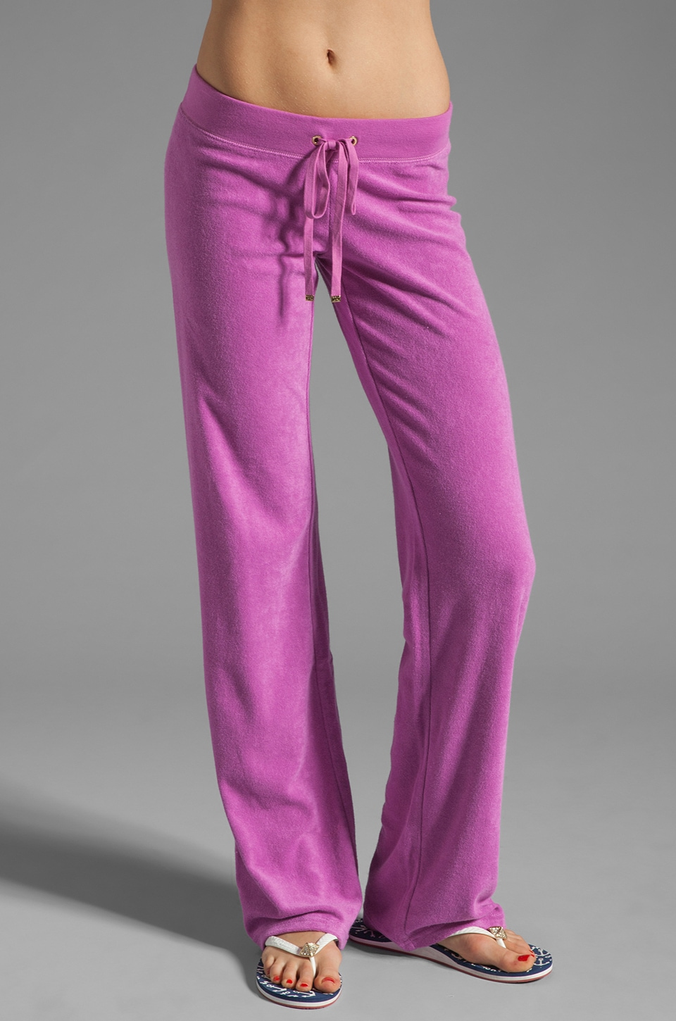Juicy Couture Terry Original Leg Pant in Crocus