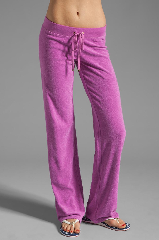 Juicy Couture Terry Original Leg Pant in Crocus