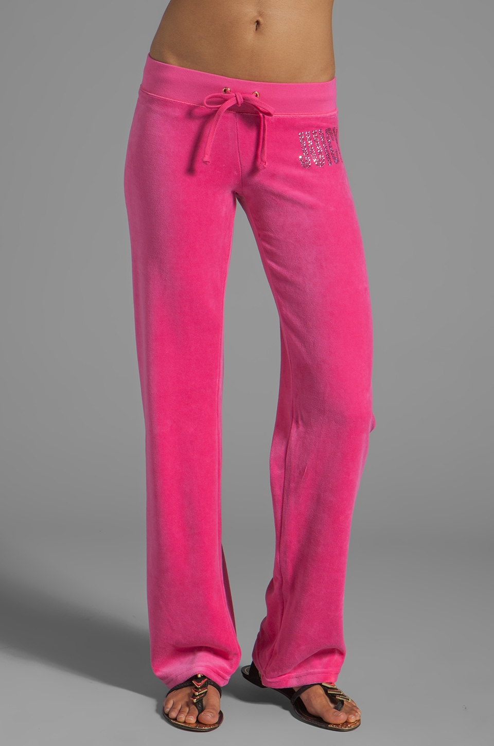 Juicy Couture Velour Choose Juicy Sweatpant in Dragonfruit