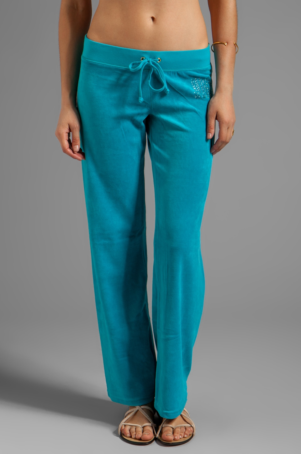 Juicy Couture Choose Juicy Velour Pant in South Pacific