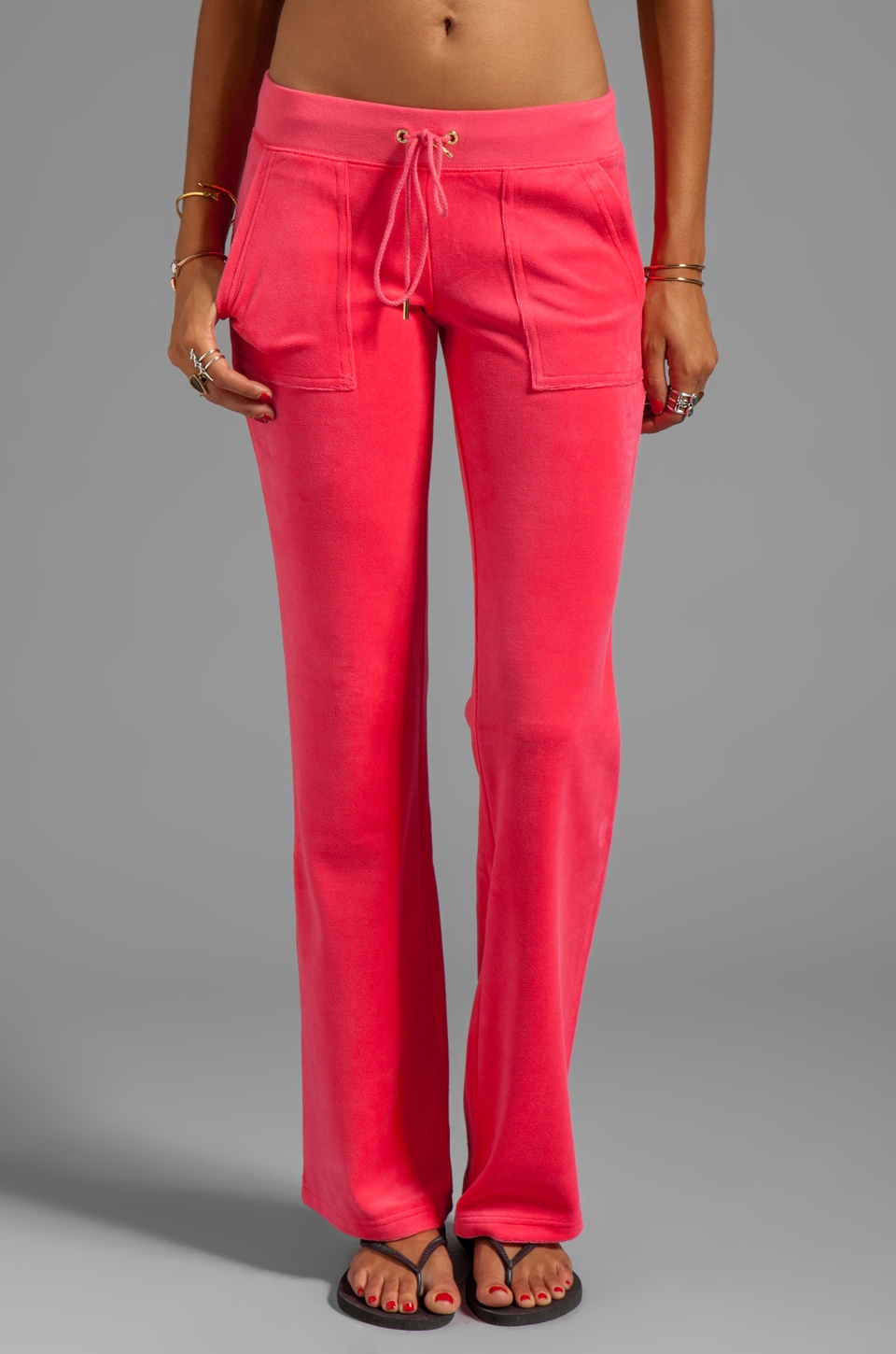 Juicy Couture Velour Bling Bootcut Sweatpant in Frolic