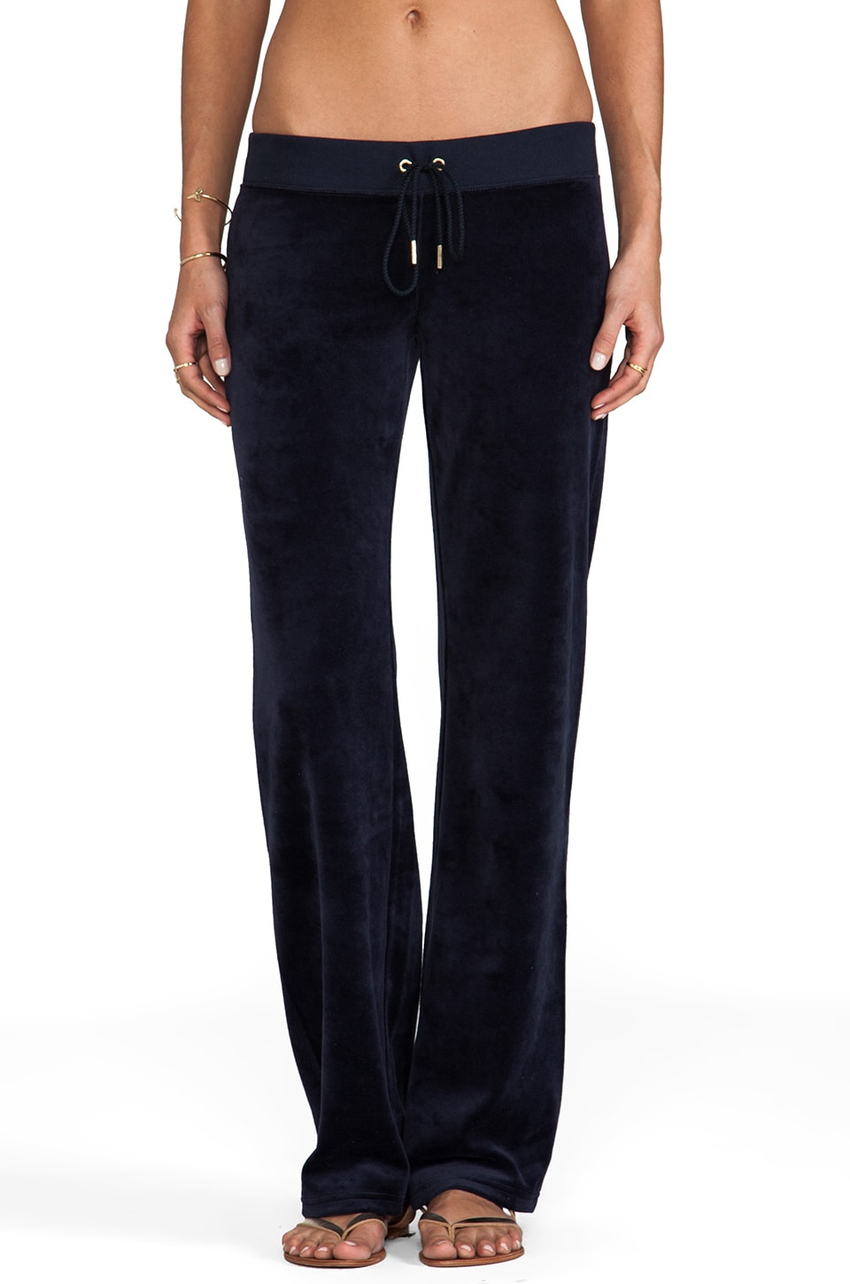 Juicy Couture J Bling Velour Original Leg Pant in Regal