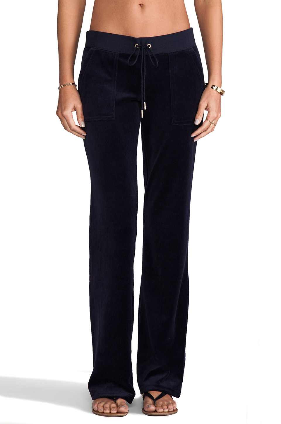 Juicy Couture J Bling Velour Bootcut Pant in Regal