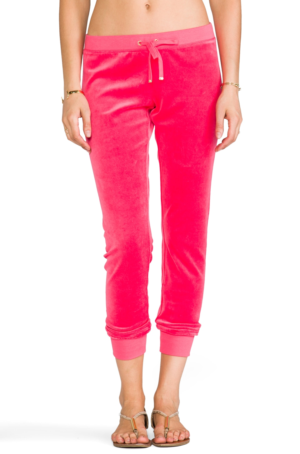 Juicy Couture J Bling Slim Comfy Pant in Geranium