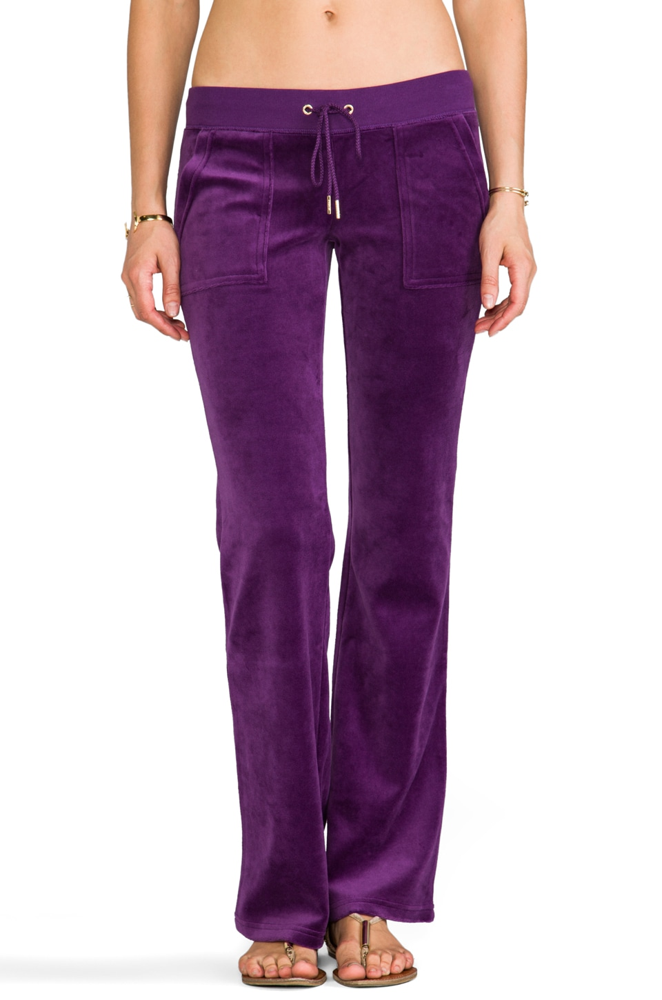 Juicy Couture J Bling Bootcut Pant in Jeweled Plum