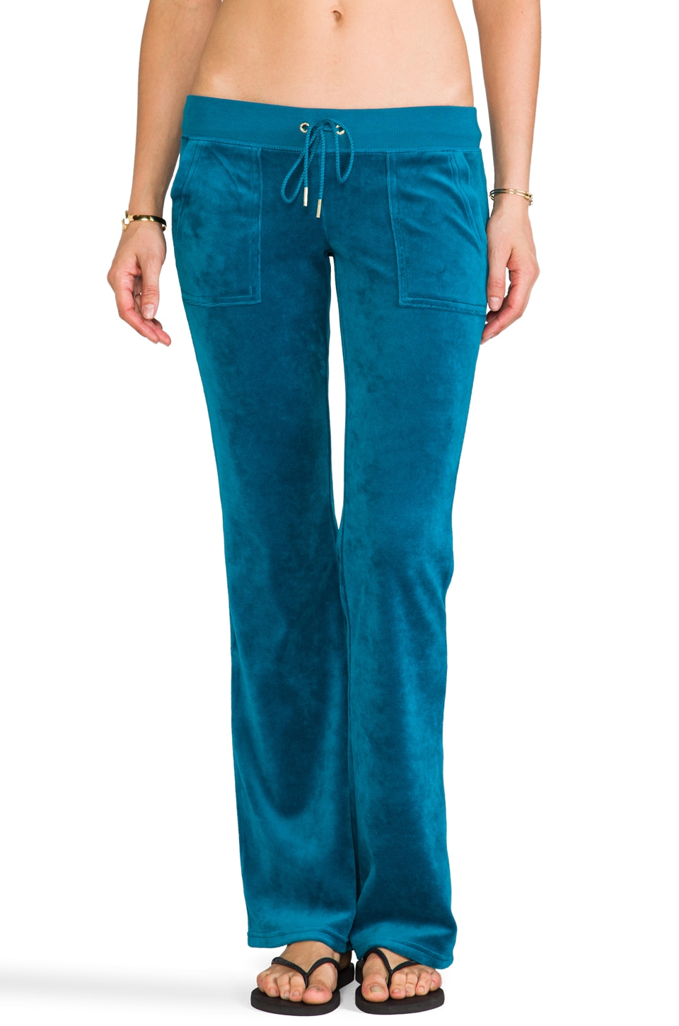 Juicy Couture J Bling Bootcut Pant in Jade
