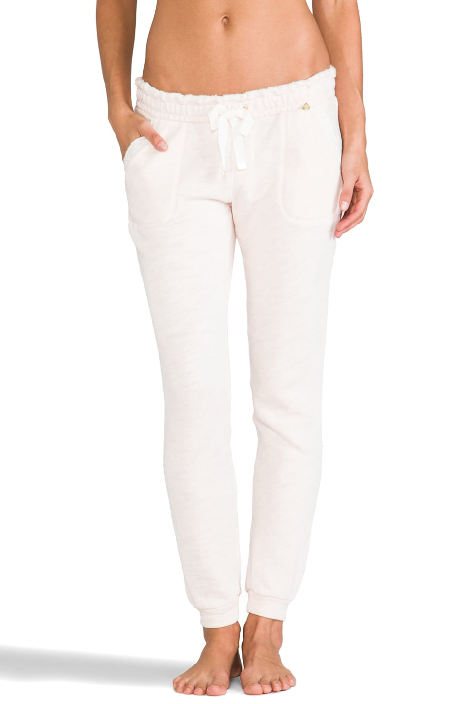 Juicy Couture Lace Pant in Heather Pink