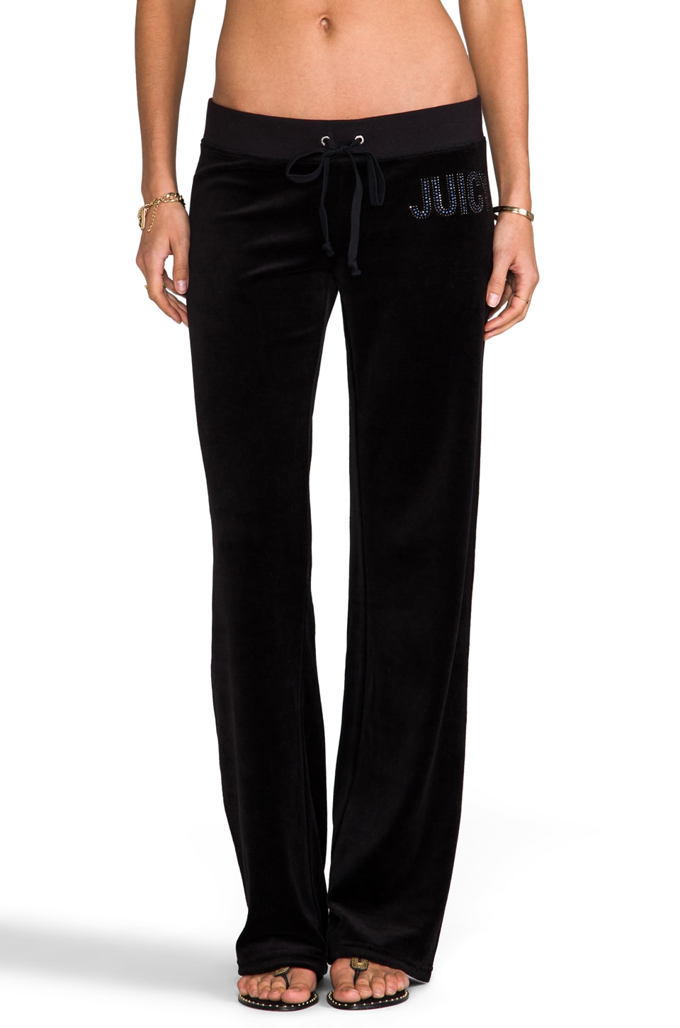 Juicy Couture Jewles Velour Pant in Black