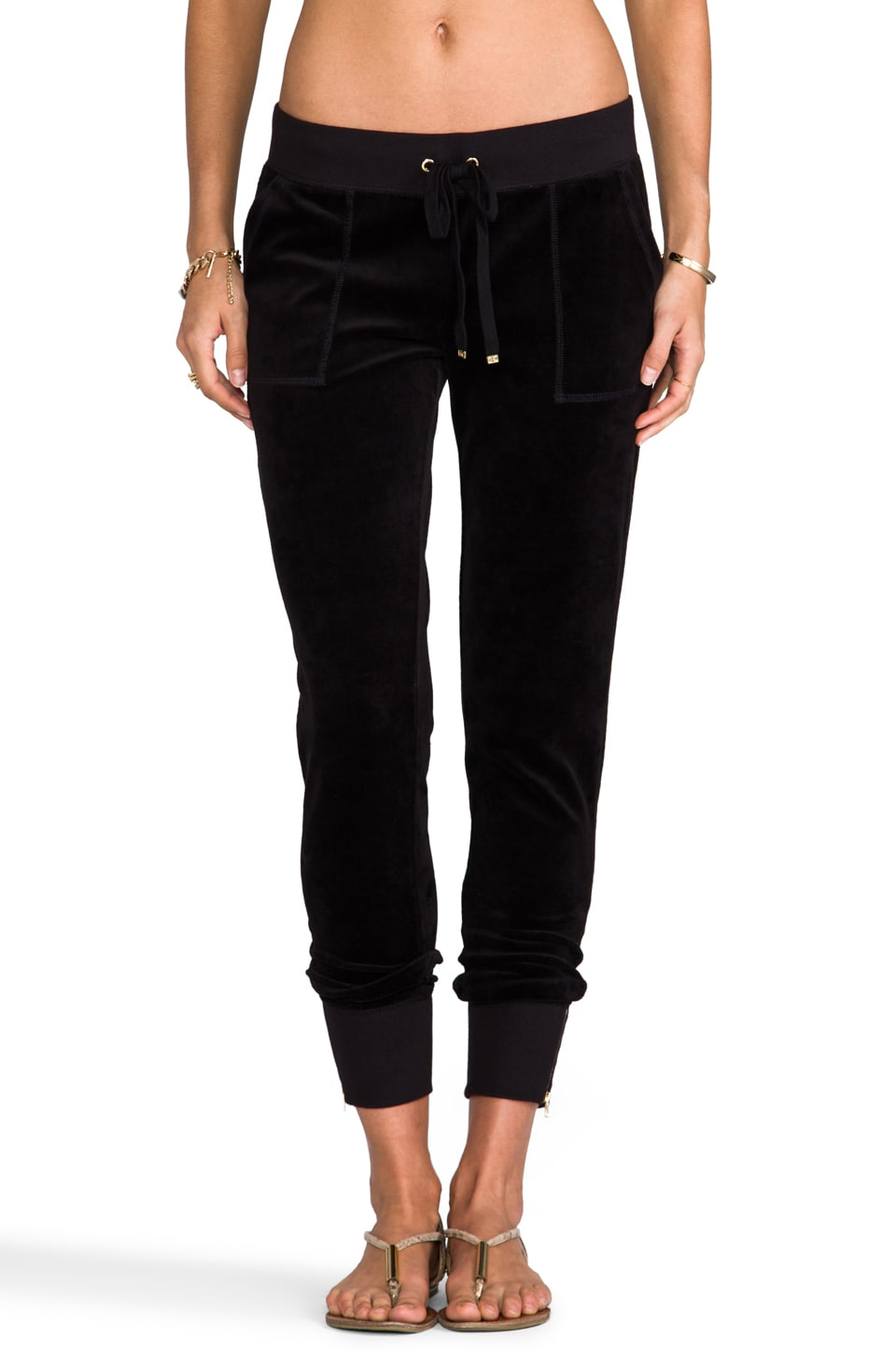 Juicy Couture Ankle Zip Pant in Black