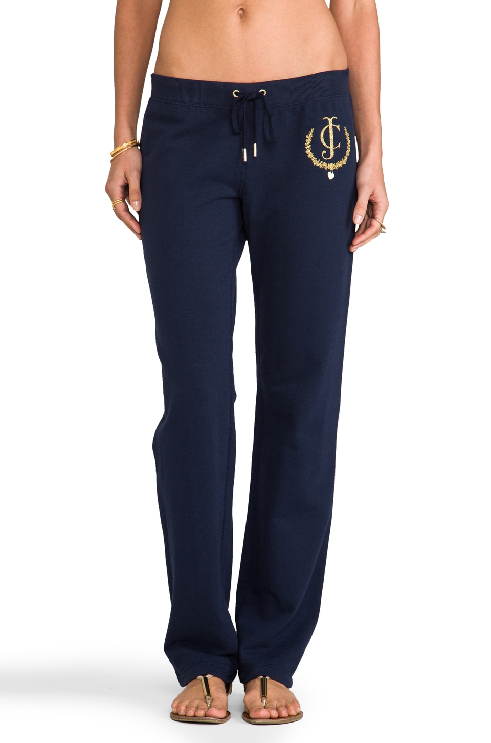 Juicy Couture Fleece Graphic Pant in Regal