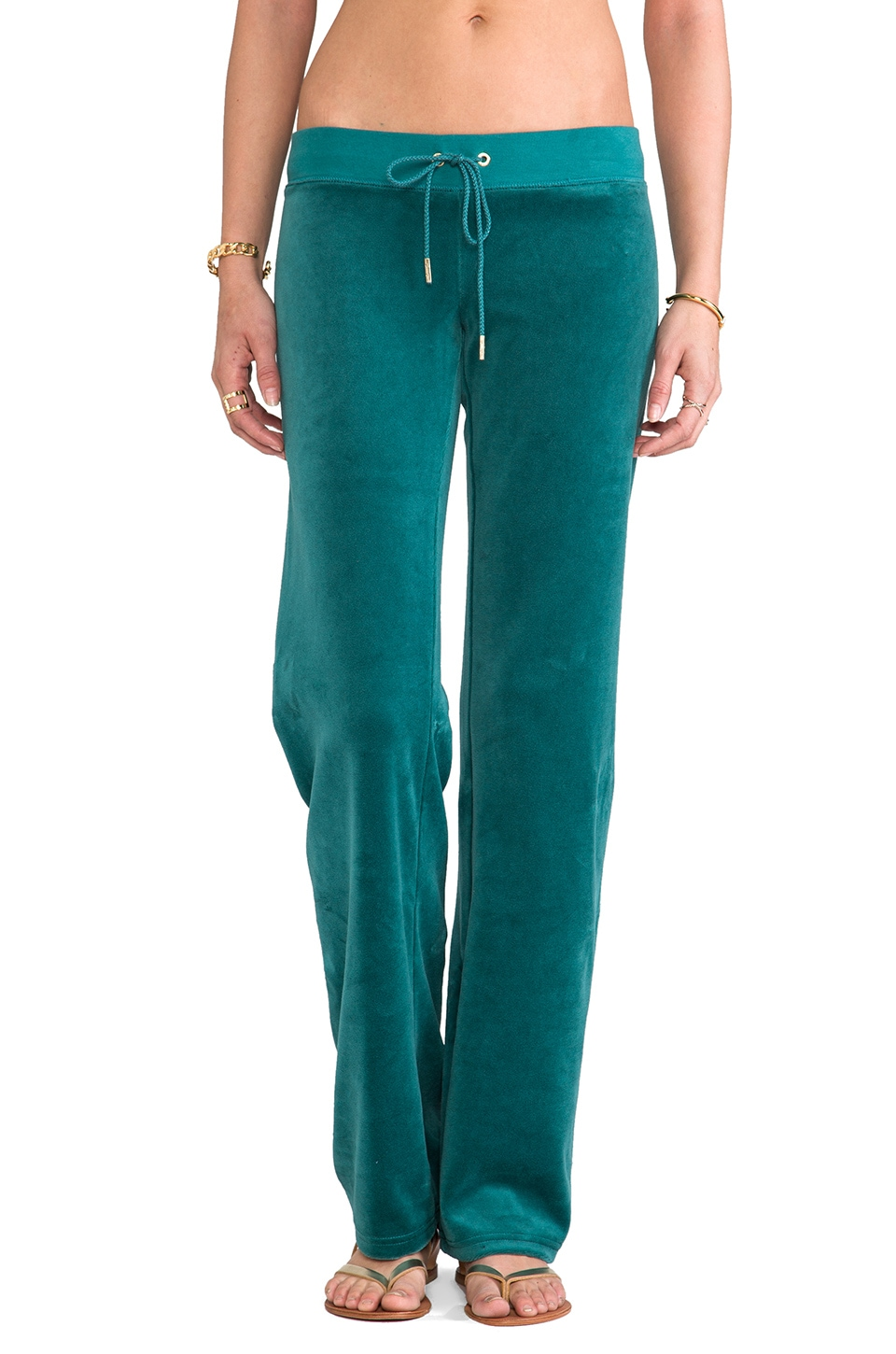 Juicy Couture Velour Bling Original Leg Pant in Wild Child