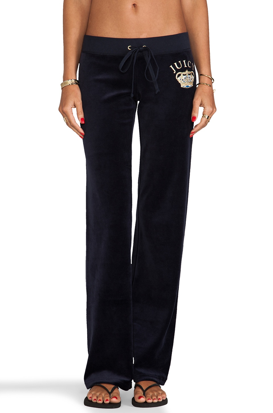 Juicy Couture Crown Velour Original Pant in Regal