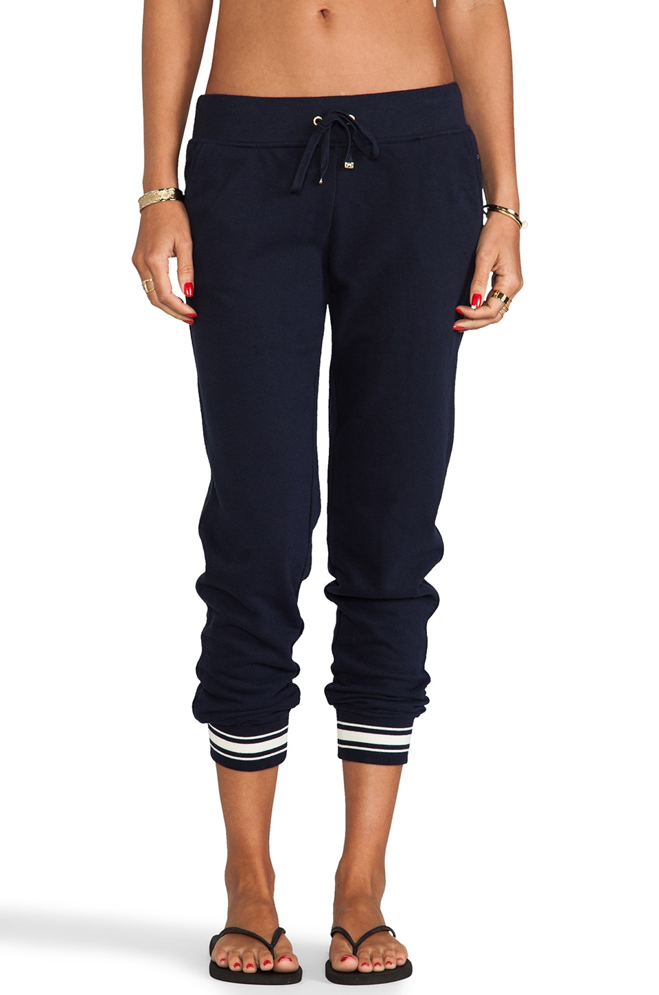 Juicy Couture Racer Rib Pant in Regal