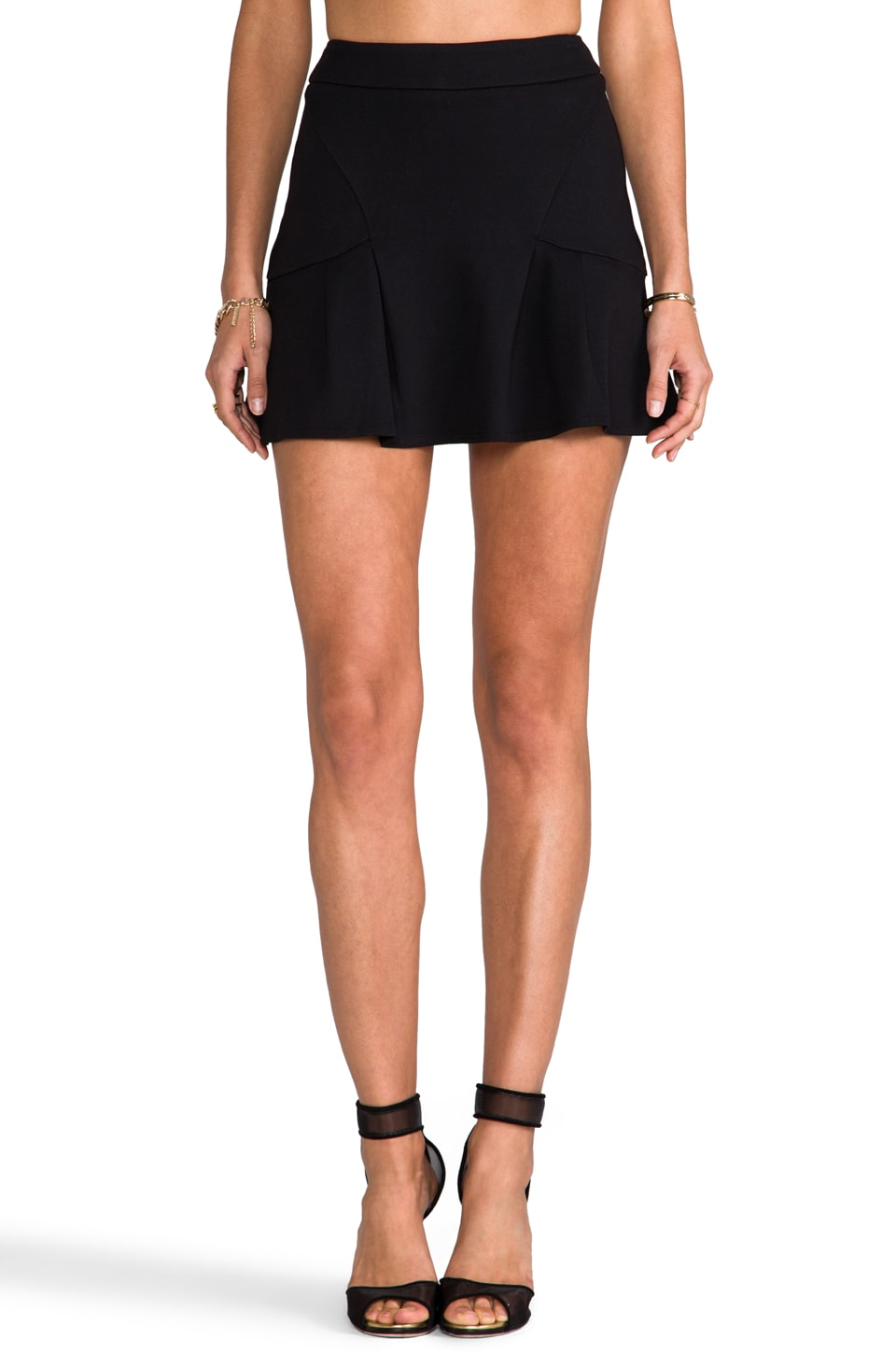 Juicy Couture Ponte Skirt in Pitch Black